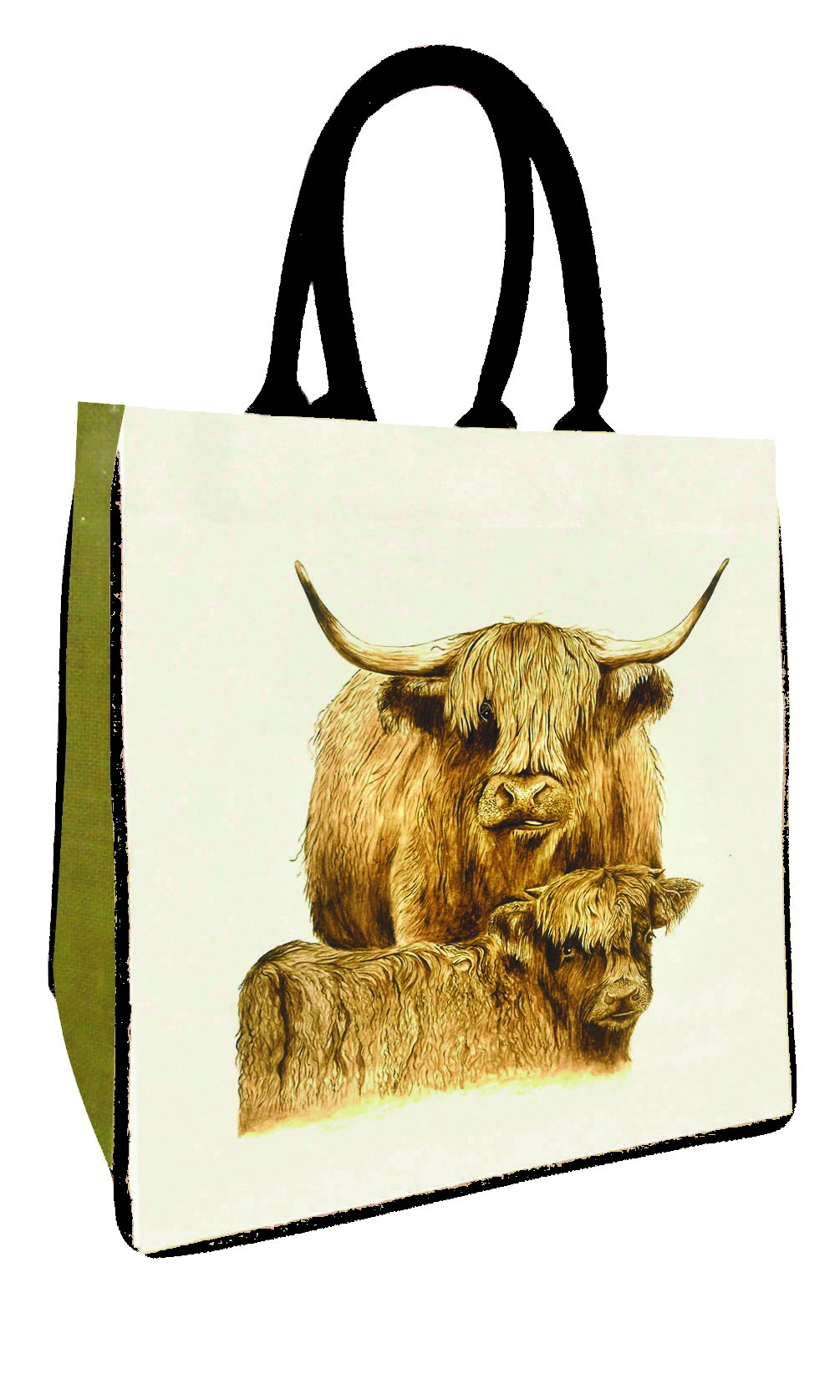 Highland Cow Calf Canvas Bag
